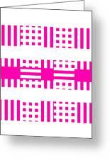 Pink Patterns Greeting Card