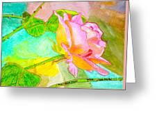 Pink Peach Power Greeting Card