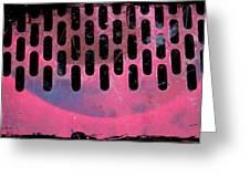 Pink Perfed Greeting Card