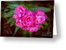 Pink Plumeria Abstract Flower Painting Greeting Card