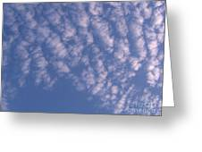 Pink Puffy Clouds Greeting Card