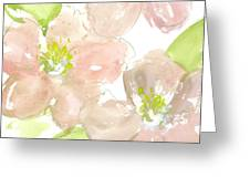 Pink Quince Greeting Card
