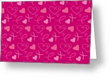 Pink Ribbons  Greeting Card
