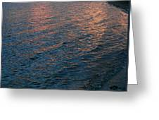Pink Ripples On The Shore Greeting Card