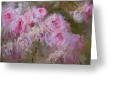 Pink Rose Abstract Greeting Card