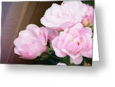 Pink Rose Cluster Greeting Card