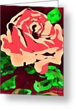 Pink Rose Impression Greeting Card