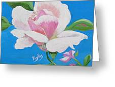 Pink Rose In Paint Greeting Card