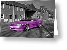 Pink Saab  Greeting Card