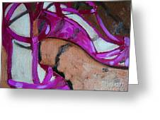 Pink Sandles Greeting Card