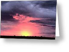 Pink Skies In Stanhope Greeting Card