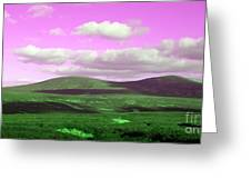 Pink Sky Greeting Card by Jo Collins