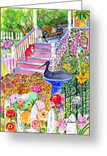 Pink Stairs Greeting Card