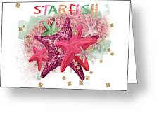 Pink Starfish Greeting Card