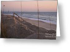 Pink Sunrise On The Beach Greeting Card