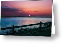 Pink Sunset Greeting Card