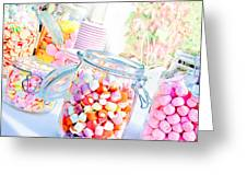 Pink Sweets Greeting Card