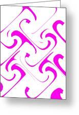 Pink Swirls Greeting Card