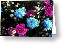 Pink To Her Blue For Him Greeting Card