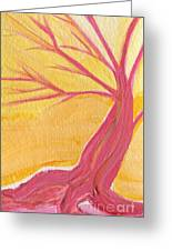 Pink Tree By Jrr Greeting Card