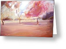 Pink Trees Greeting Card by Tanya Byrd