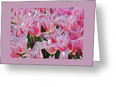 Pink Tulips 3 Greeting Card