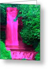 Pink Waterfall Greeting Card