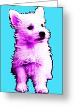 Pink Westie - West Highland Terrier Art By Sharon Cummings Greeting Card