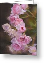 Pink Winter Roses One Greeting Card