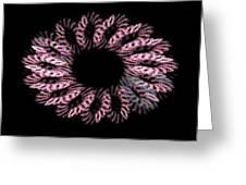 Pink Wreath Greeting Card