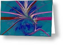Pink Yucca Twist Greeting Card
