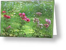 Pinks And Daisies Greeting Card