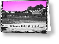 Pinky's Beachside Resort Greeting Card