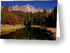 Pinnacle Buttes On Brooks Lake Creek Rocky Mountains Greeting Card