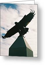 Pinnacle With Eagle   Greeting Card