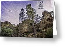 Pinnacles And Trees Greeting Card