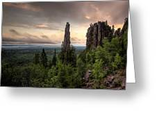 Pinnacles The Dorion Tower Greeting Card