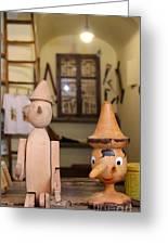 Pinocchio Greeting Card by April Antonia