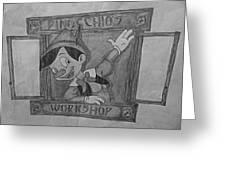 Pinochio Greeting Card
