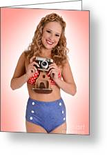 Pinup Photographer Greeting Card
