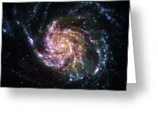 Pinwheel Galaxy Rainbow Greeting Card