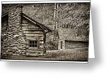 Pioneer Cabin And Shed In Cades Cove E227 Greeting Card