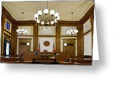 Pioneer Courthouse Courtroom In Portland Oregon Downtown Greeting Card