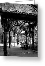 Pioneer Square Pergola Greeting Card by David Patterson