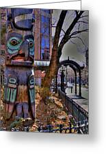 Pioneer Square Totem Pole Greeting Card