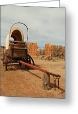 Pionner Wagon Greeting Card