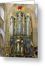 Pipe Organ In Breda Grote Kerk Greeting Card