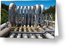 Pipeline Installation For Distribution And Supply Greeting Card