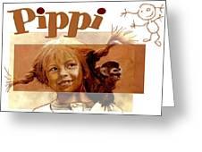 Pippi Longstocking - Fan Version Greeting Card