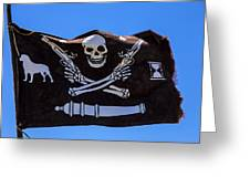 Pirate Flag With Skull And Pistols Greeting Card